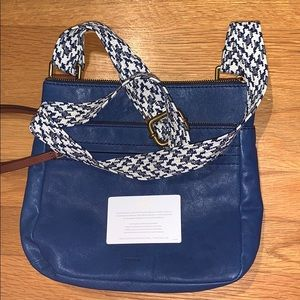 Genuine Leather Navy Fossil Purse